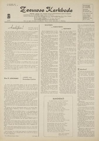 Zeeuwsche kerkbode, weekblad gewijd aan de belangen der gereformeerde kerken/ Zeeuwsch kerkblad 1969-10-23