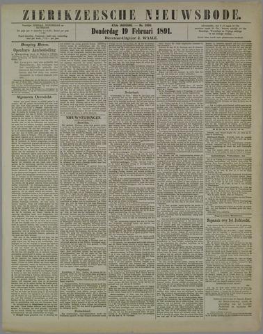 Zierikzeesche Nieuwsbode 1891-02-19