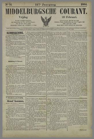 Middelburgsche Courant 1884-02-29