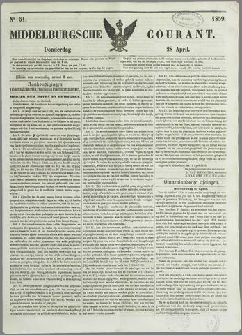 Middelburgsche Courant 1859-04-28