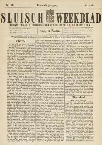 Sluisch Weekblad. Nieuws- en advertentieblad voor Westelijk Zeeuwsch-Vlaanderen 1875-09-24