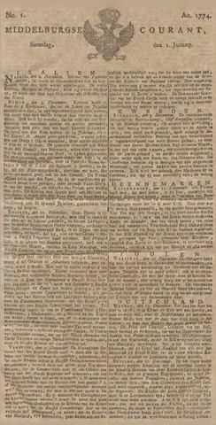 Middelburgsche Courant 1774