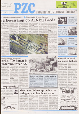 Provinciale Zeeuwse Courant 1990-11-07