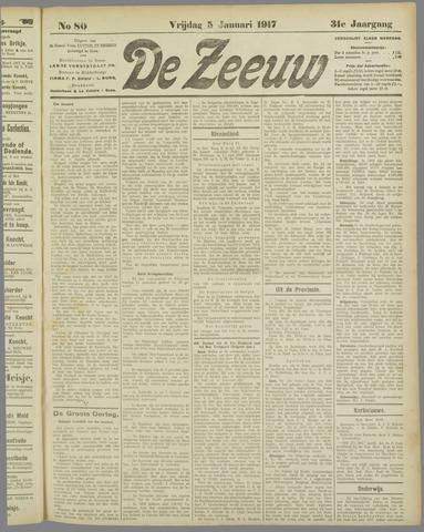 De Zeeuw. Christelijk-historisch nieuwsblad voor Zeeland 1917-01-05