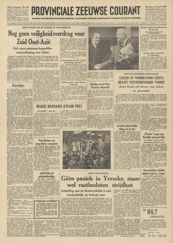 Provinciale Zeeuwse Courant 1954-04-13
