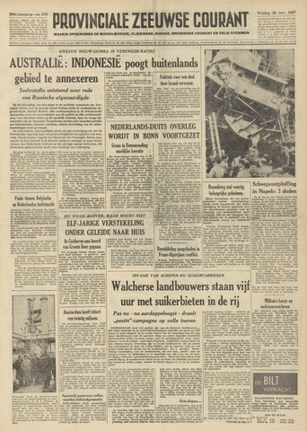 Provinciale Zeeuwse Courant 1957-11-22