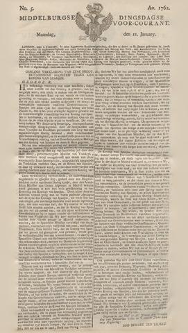 Middelburgsche Courant 1762-01-11