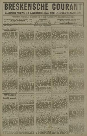 Breskensche Courant 1923-02-07