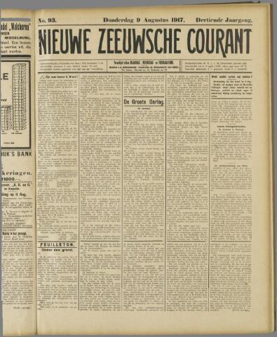 Nieuwe Zeeuwsche Courant 1917-08-09