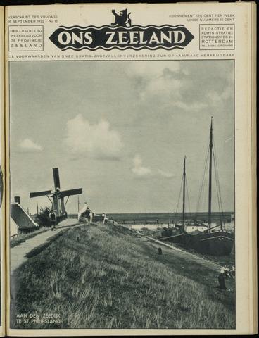 Ons Zeeland / Zeeuwsche editie 1932-09-16