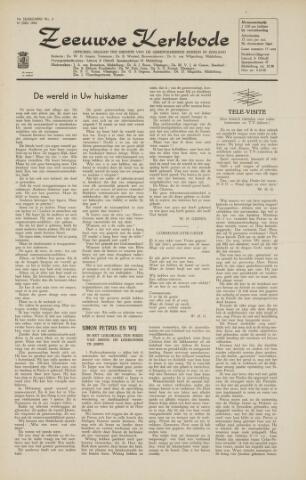 Zeeuwsche kerkbode, weekblad gewijd aan de belangen der gereformeerde kerken/ Zeeuwsch kerkblad 1964-07-10