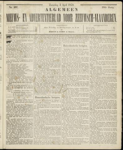 Ter Neuzensche Courant. Algemeen Nieuws- en Advertentieblad voor Zeeuwsch-Vlaanderen / Neuzensche Courant ... (idem) / (Algemeen) nieuws en advertentieblad voor Zeeuwsch-Vlaanderen 1870-04-02