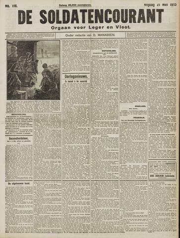 De Soldatencourant. Orgaan voor Leger en Vloot 1915-05-21