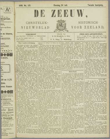 De Zeeuw. Christelijk-historisch nieuwsblad voor Zeeland 1888-07-24