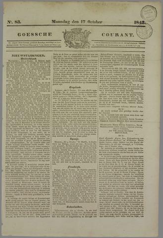 Goessche Courant 1842-10-17