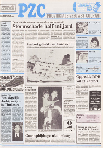 Provinciale Zeeuwse Courant 1990-01-27