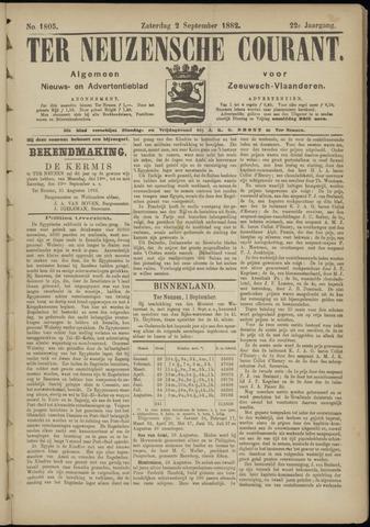 Ter Neuzensche Courant. Algemeen Nieuws- en Advertentieblad voor Zeeuwsch-Vlaanderen / Neuzensche Courant ... (idem) / (Algemeen) nieuws en advertentieblad voor Zeeuwsch-Vlaanderen 1882-09-02