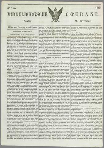 Middelburgsche Courant 1865-11-26