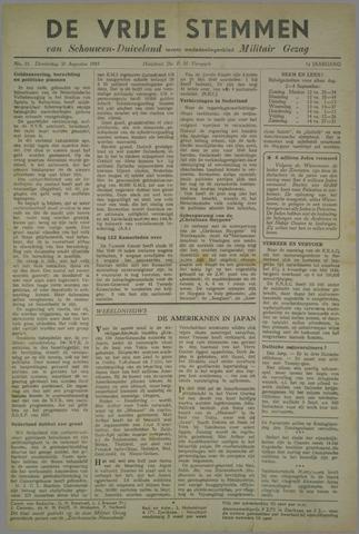 Vrije Stemmen van Schouwen-Duiveland, tevens mededeelingenblad Militair Gezag 1945-08-30
