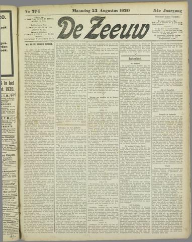 De Zeeuw. Christelijk-historisch nieuwsblad voor Zeeland 1920-08-23