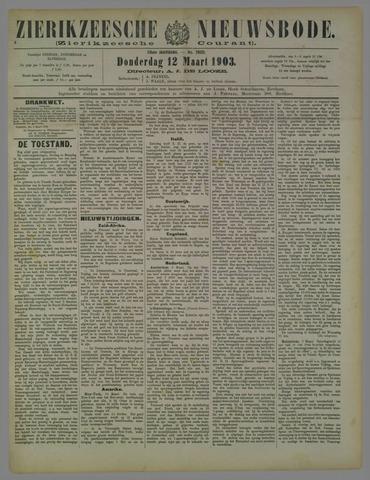 Zierikzeesche Nieuwsbode 1903-03-12