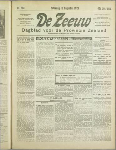 De Zeeuw. Christelijk-historisch nieuwsblad voor Zeeland 1929-08-10