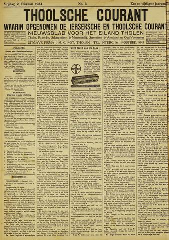 Ierseksche en Thoolsche Courant 1934-02-02