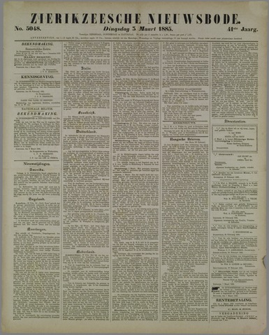 Zierikzeesche Nieuwsbode 1885-03-03