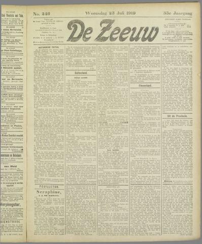 De Zeeuw. Christelijk-historisch nieuwsblad voor Zeeland 1919-07-23