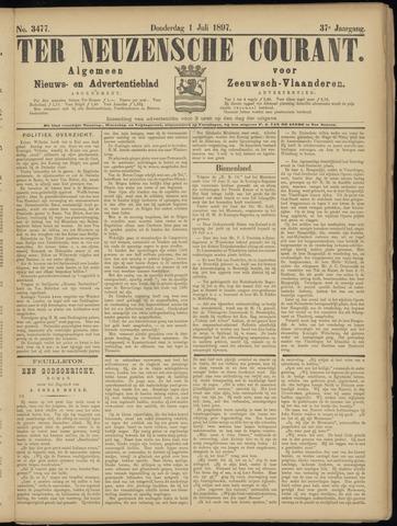 Ter Neuzensche Courant. Algemeen Nieuws- en Advertentieblad voor Zeeuwsch-Vlaanderen / Neuzensche Courant ... (idem) / (Algemeen) nieuws en advertentieblad voor Zeeuwsch-Vlaanderen 1897-07-01