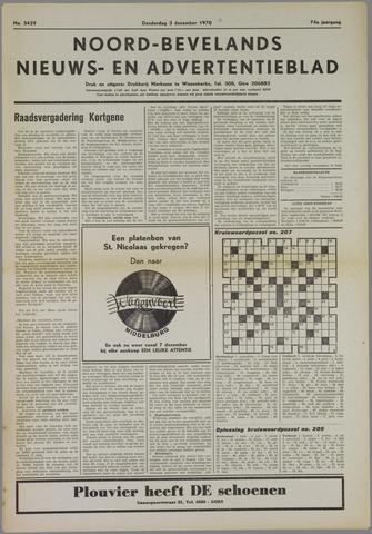 Noord-Bevelands Nieuws- en advertentieblad 1970-12-03
