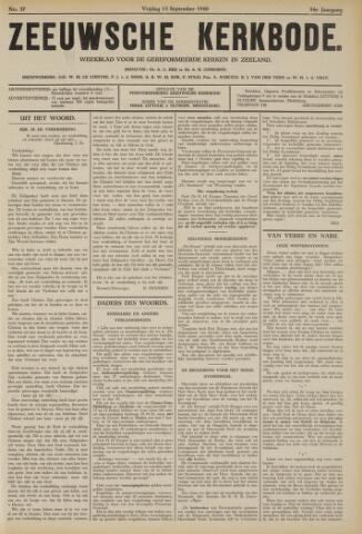 Zeeuwsche kerkbode, weekblad gewijd aan de belangen der gereformeerde kerken/ Zeeuwsch kerkblad 1940-09-13