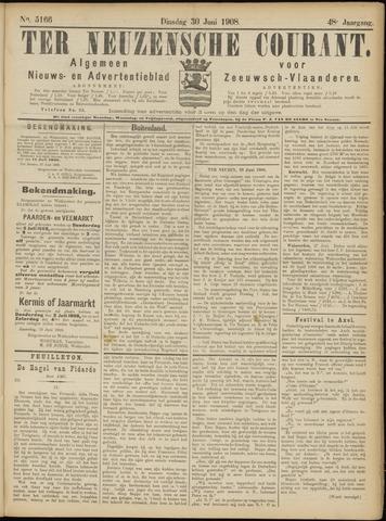 Ter Neuzensche Courant. Algemeen Nieuws- en Advertentieblad voor Zeeuwsch-Vlaanderen / Neuzensche Courant ... (idem) / (Algemeen) nieuws en advertentieblad voor Zeeuwsch-Vlaanderen 1908-06-30