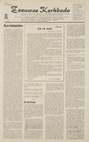 Zeeuwsche kerkbode, weekblad gewijd aan de belangen der gereformeerde kerken/ Zeeuwsch kerkblad 1962-07-13