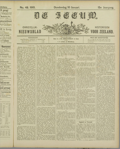 De Zeeuw. Christelijk-historisch nieuwsblad voor Zeeland 1901-01-10