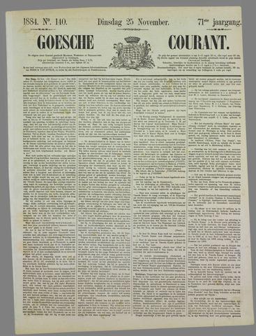 Goessche Courant 1884-11-25