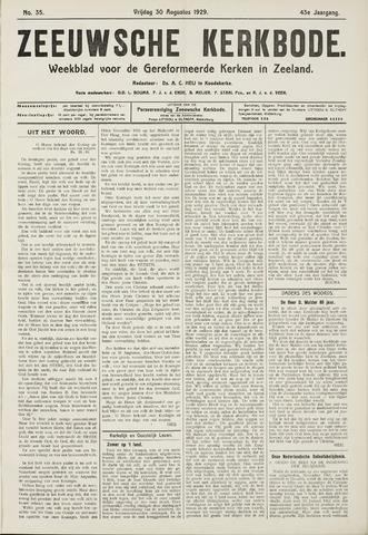 Zeeuwsche kerkbode, weekblad gewijd aan de belangen der gereformeerde kerken/ Zeeuwsch kerkblad 1929-08-30