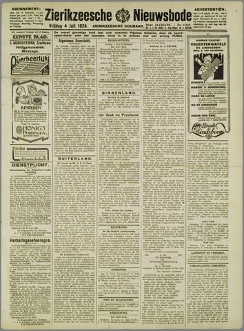 Zierikzeesche Nieuwsbode 1924-07-04