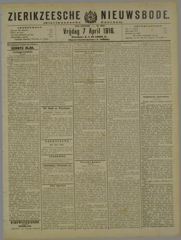Zierikzeesche Nieuwsbode 1916-04-07
