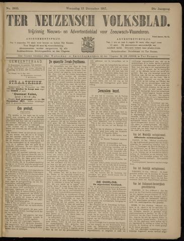 Ter Neuzensch Volksblad. Vrijzinnig nieuws- en advertentieblad voor Zeeuwsch- Vlaanderen / Zeeuwsch Nieuwsblad. Nieuws- en advertentieblad voor Zeeland 1917-12-12