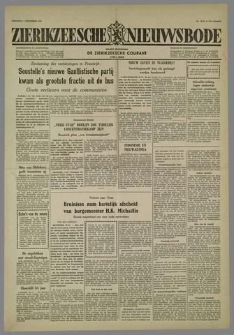 Zierikzeesche Nieuwsbode 1958-12-01