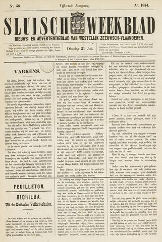 Sluisch Weekblad. Nieuws- en advertentieblad voor Westelijk Zeeuwsch-Vlaanderen 1874-07-21