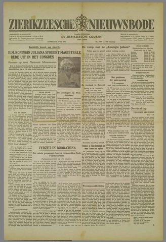 Zierikzeesche Nieuwsbode 1952-04-05