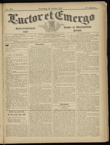 Luctor et Emergo. Antirevolutionair nieuws- en advertentieblad voor Zeeland / Zeeuwsch-Vlaanderen. Orgaan ter verspreiding van de christelijke beginselen in Zeeuwsch-Vlaanderen 1916-10-25