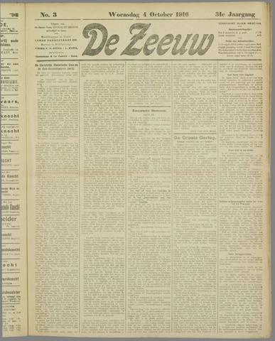 De Zeeuw. Christelijk-historisch nieuwsblad voor Zeeland 1916-10-04