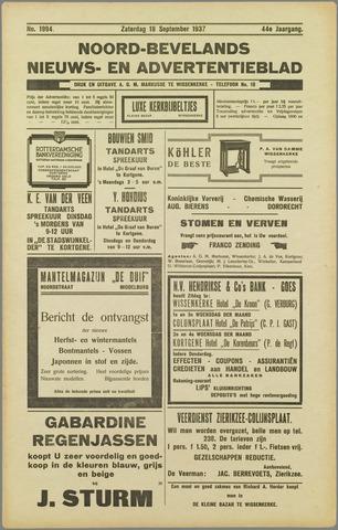 Noord-Bevelands Nieuws- en advertentieblad 1937-09-18