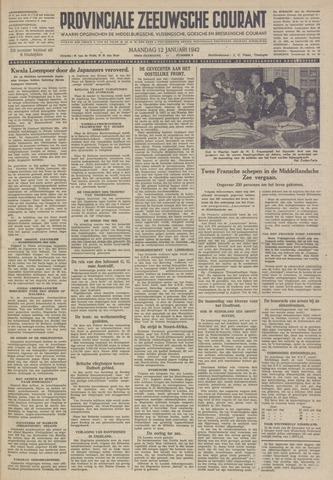 Provinciale Zeeuwse Courant 1942-01-12