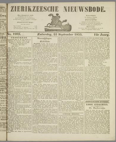 Zierikzeesche Nieuwsbode 1855-09-22