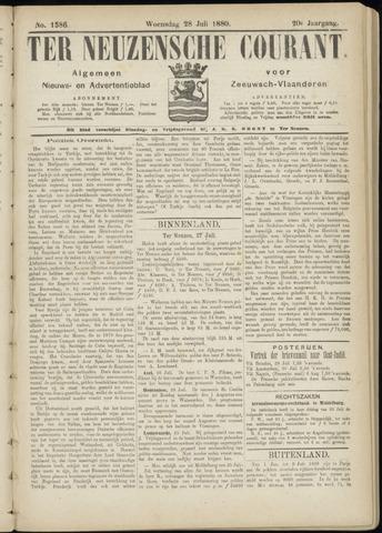 Ter Neuzensche Courant. Algemeen Nieuws- en Advertentieblad voor Zeeuwsch-Vlaanderen / Neuzensche Courant ... (idem) / (Algemeen) nieuws en advertentieblad voor Zeeuwsch-Vlaanderen 1880-07-28