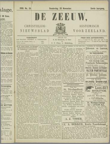 De Zeeuw. Christelijk-historisch nieuwsblad voor Zeeland 1888-11-29